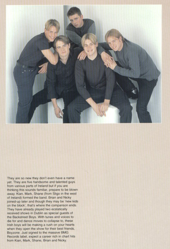 Westlife in the Boyzone programme