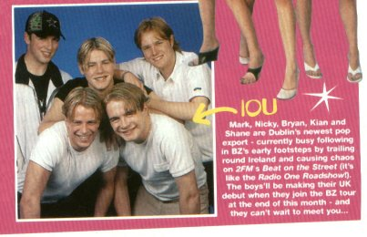 IOU in Boyzone magazine