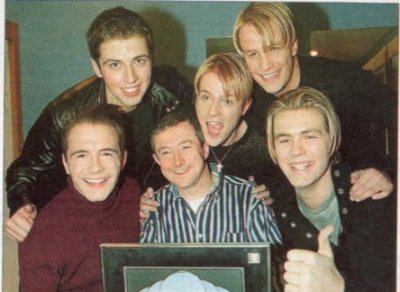 Westlife with Louis Walsh
