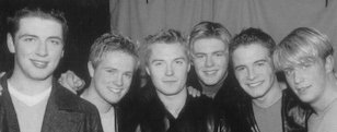 Westlife with Ronan Keating of Boyzone